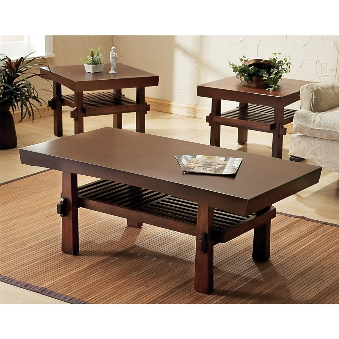 attractive modern end table for living room rectangle dark oak wood coffee table with casters black painted wood end table white shag area rug