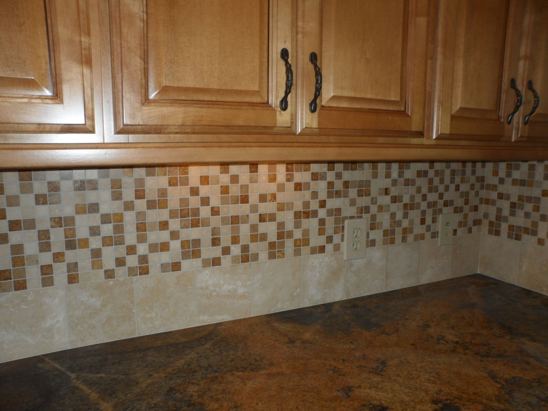 nice mosaic tile kitchen backsplash