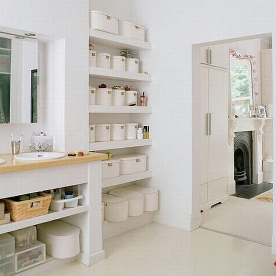 bathroom shelf ideas keeping your stuff inside